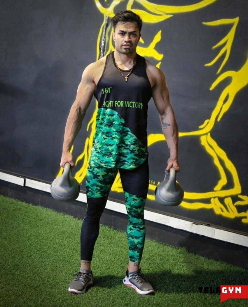ست لگ و رکابی مردانه ست لگ و رکابی ورزشی مردانه بدنسازی کراس فیت 2