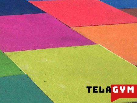 color-flooring-sport-rubber گرانول باشگاهی تجهیزات بدنسازی کراس فیت تمرین در خانه 2
